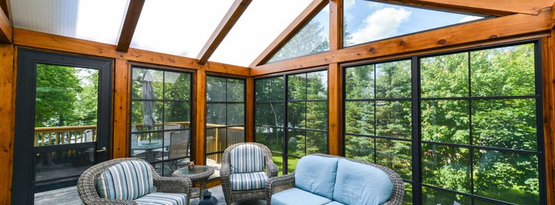 Acrylic roof systems distinctive sunrooms patio for Timber frame sunroom addition