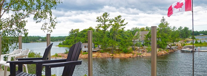 Cottage Deck with view Topless glass