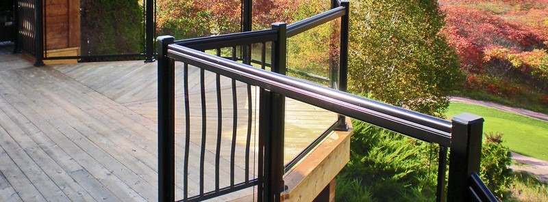 Cottage Glass and Spindle Railings